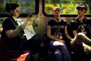 Zombies on a bus by SprenklePhotography