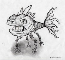 Fish by rubbe