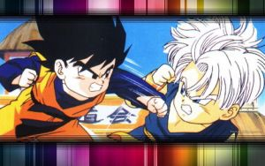 Goten vs Trunks Wallpaper by PikachuStar93