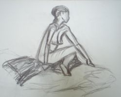 figure drawing two by lozartist
