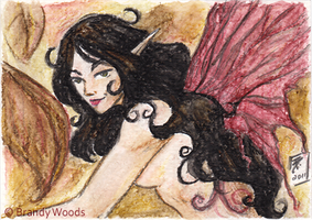 ACEO: Tattered Wings of Autumn by BrandyWoods