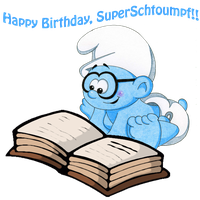 Happy Birthday SuperSchtroumpf by Kiss-the-Iconist