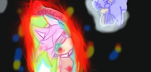 Sonic... -Well... i tryed making it look good..XD- by Jadina2002