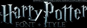 Harry Potter font + style by MissReason