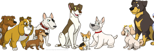 Detective Dogs Character lineup by FutureDwight