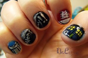 Tenth Doctor Nail Art by ChainOfLight