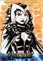 Avengers Sketch Card Scarlet W by RAHeight2002-2012