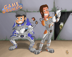 Game Grumps Portal 2 by Sound-Resonance