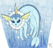 Vaporeon -Colored by XxAnimeWolfxX