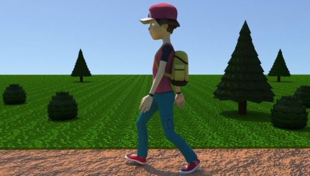 Trainer RED Andy Rig Walk Cycle by macprodukshunz