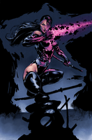 Psylocke - Colored by chacuri