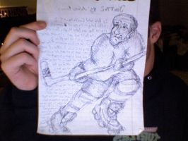 Grotesque Hockey Player by antiflag8789