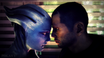 Shepard and Liara by SkayuGame