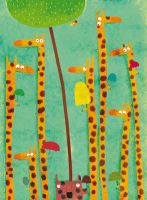 Among the giraffes, so cool by nicolas-gouny-art