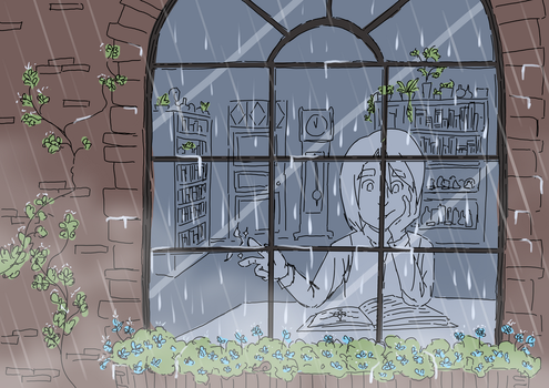 Rainy Day Reading by RK-d