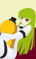 CC and Cheese-kun Code Geass by heophtia
