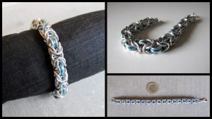 Sky Blue Byzantine bracelet by JeiThings