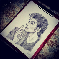 David Tennant as the Doctor (Doctor Who) by ieindigoeast