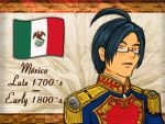 Hetalia Mexico 1700 to 1800 by chaos-dark-lord