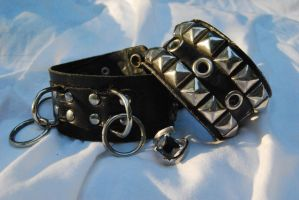bracelets and ring by DestroyingAngels