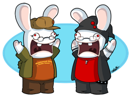 Rabbids can't Celebrate Bdays by TamarinFrog