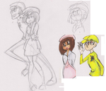new character doodles by Skitsskat