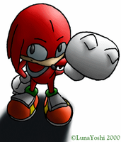 Old: Knuckles overhead drawymabob by LuLuLunaBuna