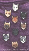 Kitty Magnets by MommySpike