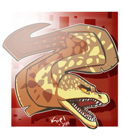 Fangtooth Moray by fossilizer