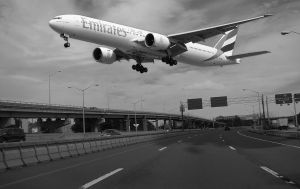 Close Call  Airplane Flyover by rcleozier