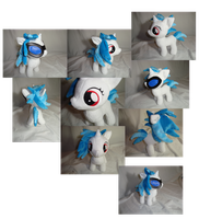 Vinyl Scratch DJPON3 filly plush collage by PlanetPlush