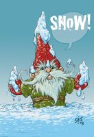 Snow maker  Tomte after by Gib-Pinups-And-Toons