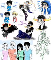 small Homestuck art dump by MMtheMayo