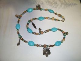 The Mojave Gemstone and Charm Necklace -SOLD- by DaybreaksDawn