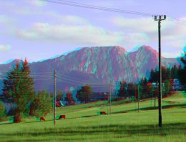 Giewont 3 3D Anaglyph by yellowishhaze