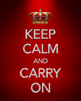 keep calm and carry on 3D by dapence by dapence