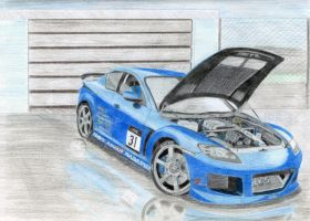 Mazda RX8 :after rain: by DR31