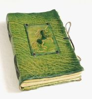Green unicorn by gildbookbinders