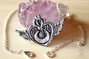Crisis Moon Compact Necklace (Sailor moon) by Crystarbor