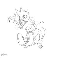 Haunter and Lickitung Progress Gif. by KKylimos