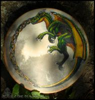Dragon Bodhran Drum by Nashoba-Hostina