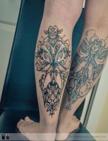 Calf tatoo Abtract by RemiisMeltingDots