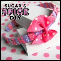 Cheshire Cat Colors RIBBON CANDY Headband by SugarAndSpiceDIY