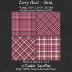 Berry Plaid - Stock Pack by StitcherLadyxx