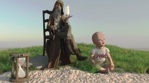 Father time nyBaby by fractal2cry