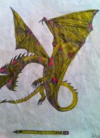 Pencilled dragon by TacoDestroyerAvenger