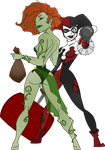 Poison Ivy and Harley Quinn 2 by HavenAtDusk