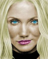 Cameron Diaz colored by nikki13088