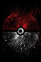 Pokeball splater art by crypticspider
