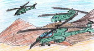 helicopter Escort by madmick2299